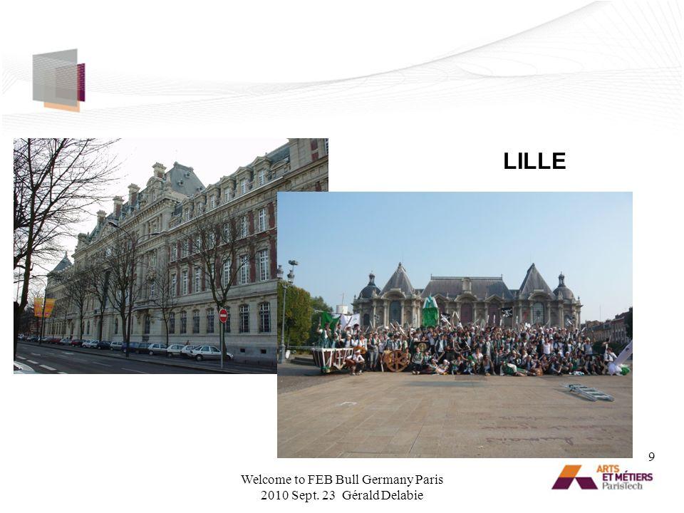 PARIS 10 Welcome to FEB Bull Germany Paris 2010 Sept. 23 Gérald Delabie