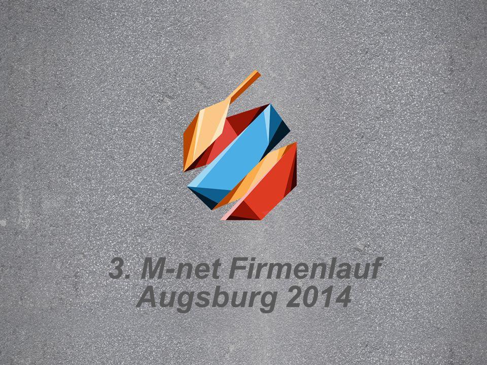 Text durch Klicken hinzufügen 3. M-net Firmenlauf Augsburg 2014