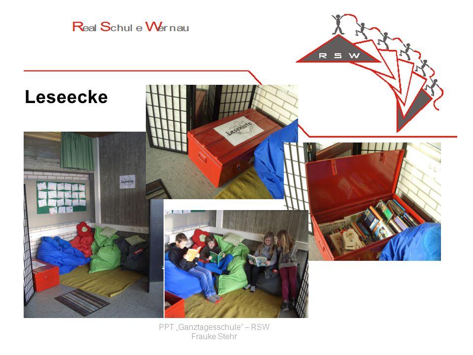 PPT Ganztagesschule – RSW Frauke Stehr Leseecke