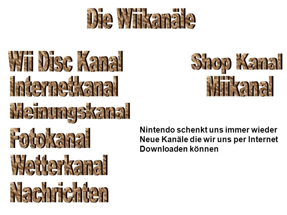 Nintendo schenkt uns immer wieder Neue Kanäle die wir uns per Internet Downloaden können