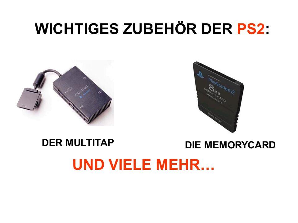 WICHTIGES ZUBEHÖR DER PS2: UND VIELE MEHR… DER MULTITAP DIE MEMORYCARD