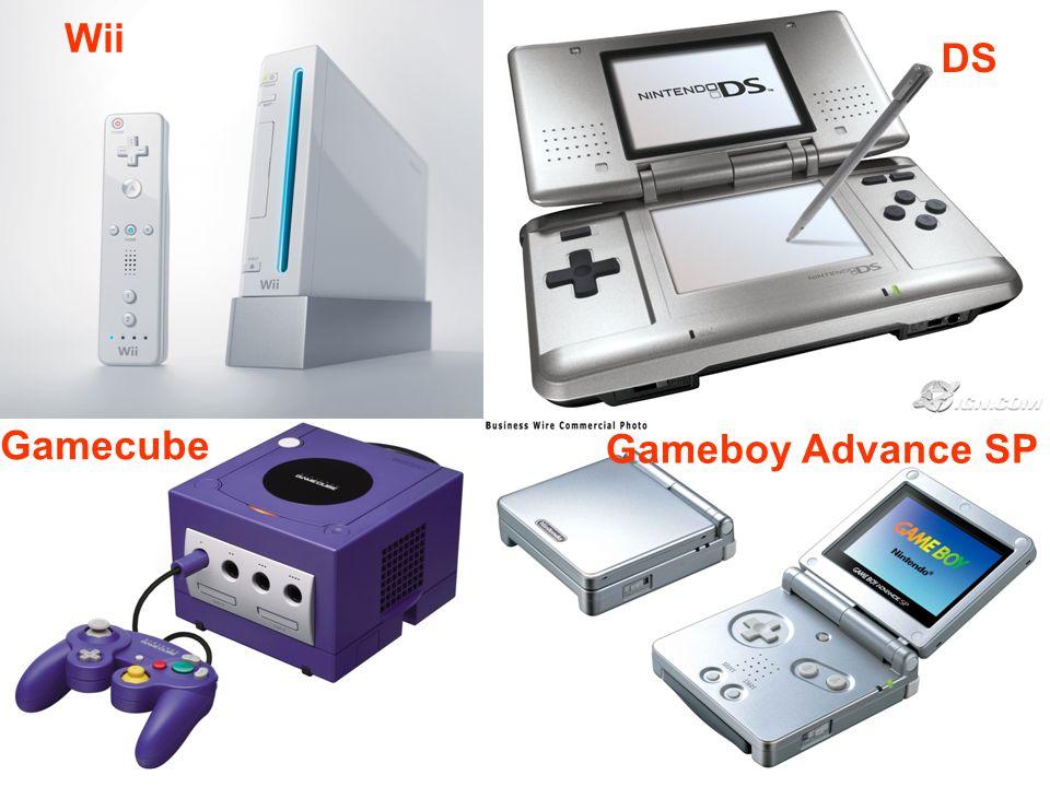 Wii DS Gamecube Gameboy Advance SP