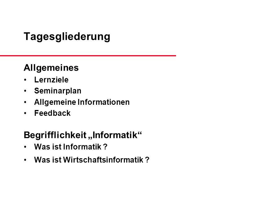 Was ist Informatik .(3) Aktuelle Differenzierung in: Grundlagen der Informatik...