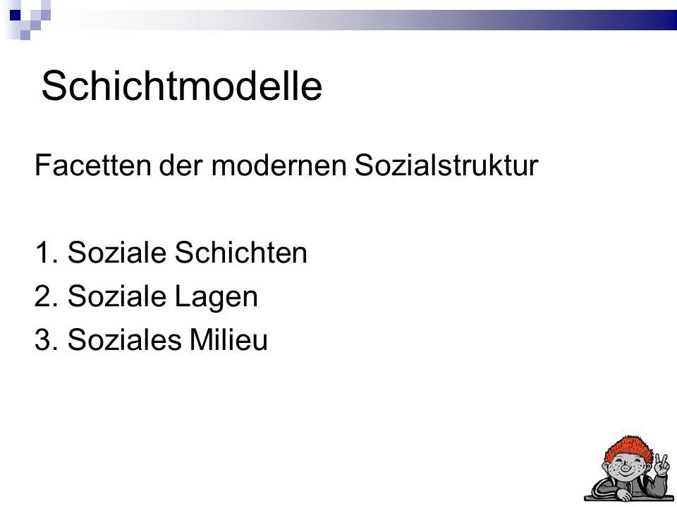 Schichtmodelle Facetten der modernen Sozialstruktur 1.
