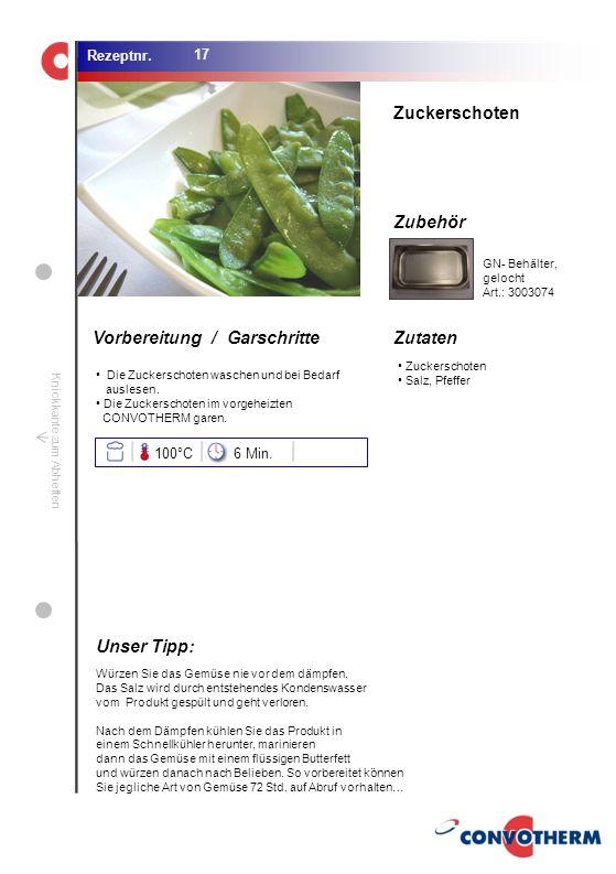 Foto (5,16 cm x 6,8 cm) ZutatenVorbereitung / Garschritte Zubehör Foto (1,44 cm x 1,98 cm) Rezeptnr. Knickkante zum Abheften Zuckerschoten Salz, Pfeff