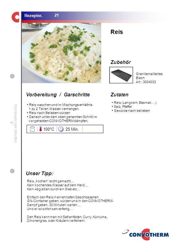 Foto (5,16 cm x 6,8 cm) ZutatenVorbereitung / Garschritte Zubehör Foto (1,44 cm x 1,98 cm) Rezeptnr. Knickkante zum Abheften Reis (Langkorn, Basmati….
