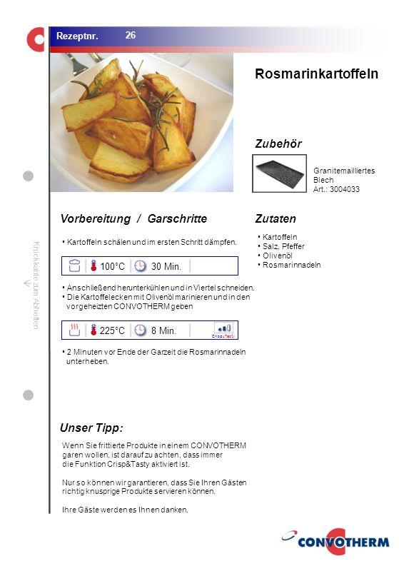 Foto (5,16 cm x 6,8 cm) ZutatenVorbereitung / Garschritte Zubehör Foto (1,44 cm x 1,98 cm) Rezeptnr. Knickkante zum Abheften Kartoffeln Salz, Pfeffer