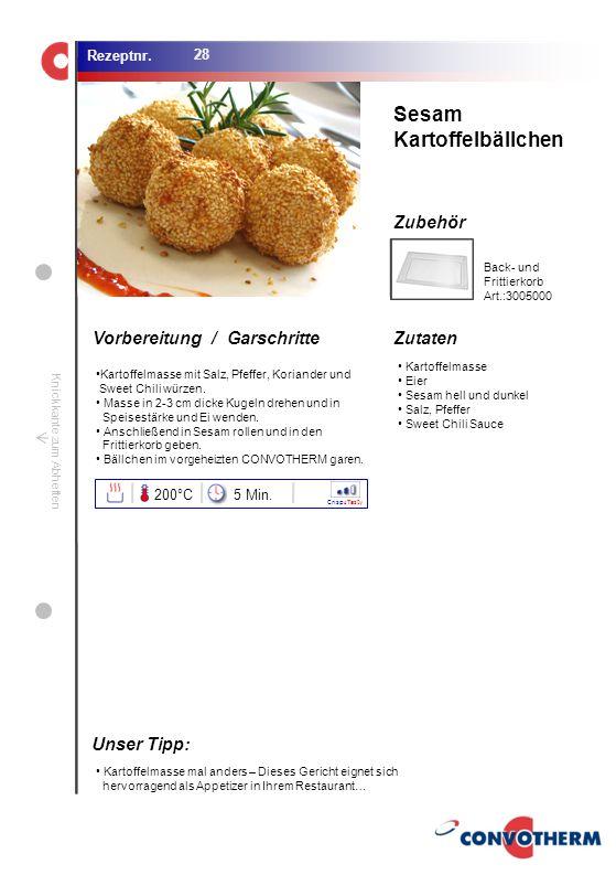 Foto (5,16 cm x 6,8 cm) ZutatenVorbereitung / Garschritte Zubehör Foto (1,44 cm x 1,98 cm) Rezeptnr. Knickkante zum Abheften Kartoffelmasse Eier Sesam