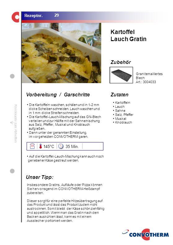 Foto (5,16 cm x 6,8 cm) ZutatenVorbereitung / Garschritte Zubehör Foto (1,44 cm x 1,98 cm) Rezeptnr. Knickkante zum Abheften Kartoffeln Lauch Sahne Sa