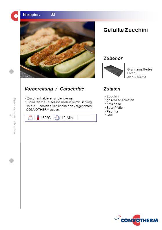 Foto (5,16 cm x 6,8 cm) ZutatenVorbereitung / Garschritte Zubehör Foto (1,44 cm x 1,98 cm) Rezeptnr. Knickkante zum Abheften Zucchini geschälte Tomate