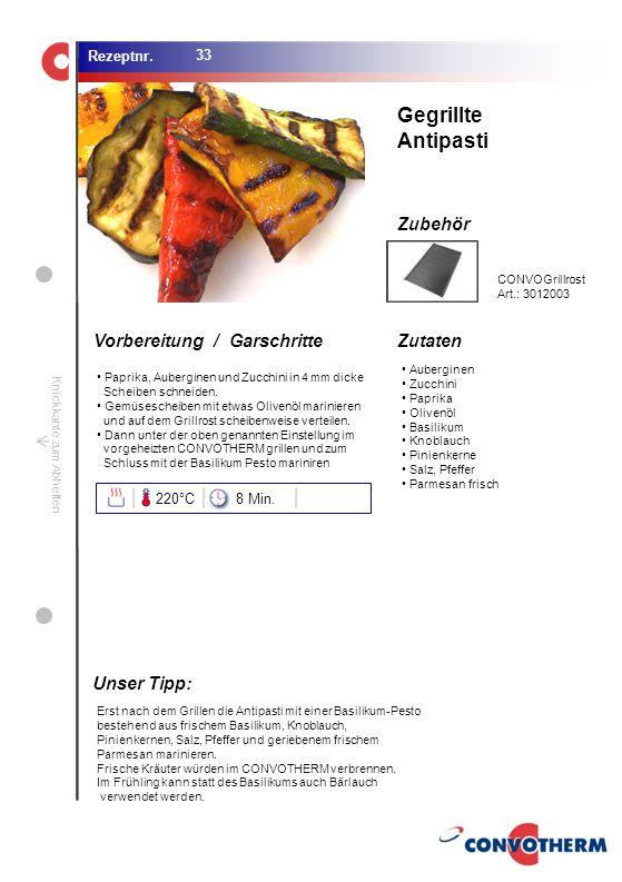Foto (5,16 cm x 6,8 cm) ZutatenVorbereitung / Garschritte Zubehör Foto (1,44 cm x 1,98 cm) Rezeptnr. Knickkante zum Abheften Auberginen Zucchini Papri
