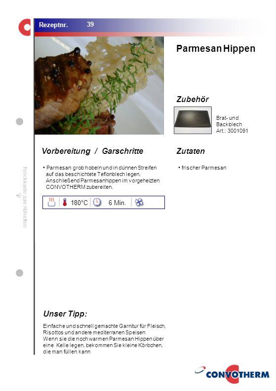Foto (5,16 cm x 6,8 cm) ZutatenVorbereitung / Garschritte Zubehör Foto (1,44 cm x 1,98 cm) Rezeptnr. Knickkante zum Abheften Parmesan grob hobeln und