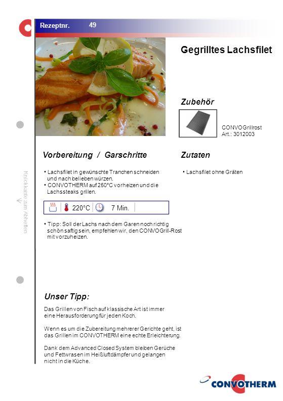 Foto (5,16 cm x 6,8 cm) ZutatenVorbereitung / Garschritte Zubehör Foto (1,44 cm x 1,98 cm) Rezeptnr. Knickkante zum Abheften Lachsfilet in gewünschte