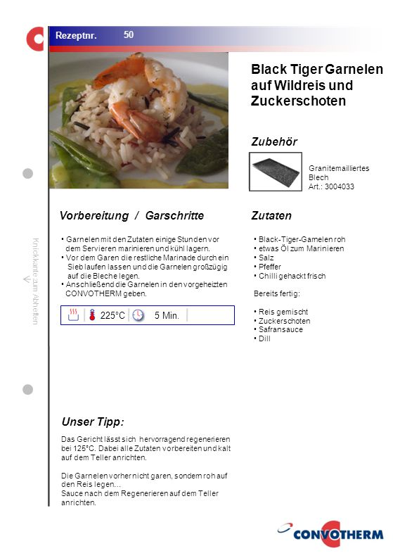 Foto (5,16 cm x 6,8 cm) ZutatenVorbereitung / Garschritte Zubehör Foto (1,44 cm x 1,98 cm) Rezeptnr. Knickkante zum Abheften Garnelen mit den Zutaten