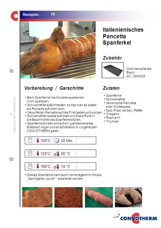 Foto (5,16 cm x 6,8 cm) ZutatenVorbereitung / Garschritte Zubehör Foto (1,44 cm x 1,98 cm) Rezeptnr. Knickkante zum Abheften Spanferkel Schweinefilet