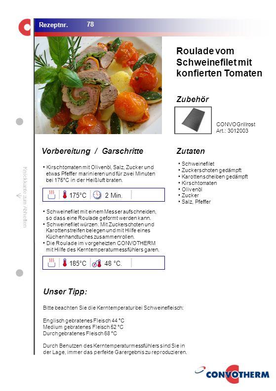 Foto (5,16 cm x 6,8 cm) ZutatenVorbereitung / Garschritte Zubehör Foto (1,44 cm x 1,98 cm) Rezeptnr. Knickkante zum Abheften Schweinefilet Zuckerschot
