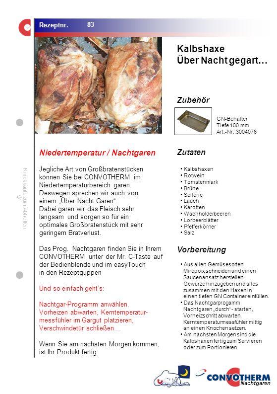 Foto (5,16 cm x 6,8 cm) ZutatenVorbereitung / Garschritte Zubehör Foto (1,44 cm x 1,98 cm) Rezeptnr. Knickkante zum Abheften Kalbshaxen Rotwein Tomate