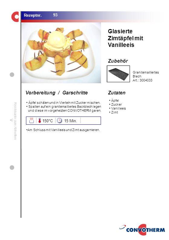 Foto (5,16 cm x 6,8 cm) ZutatenVorbereitung / Garschritte Zubehör Foto (1,44 cm x 1,98 cm) Rezeptnr. Knickkante zum Abheften Äpfel Zucker Vanilleeis Z