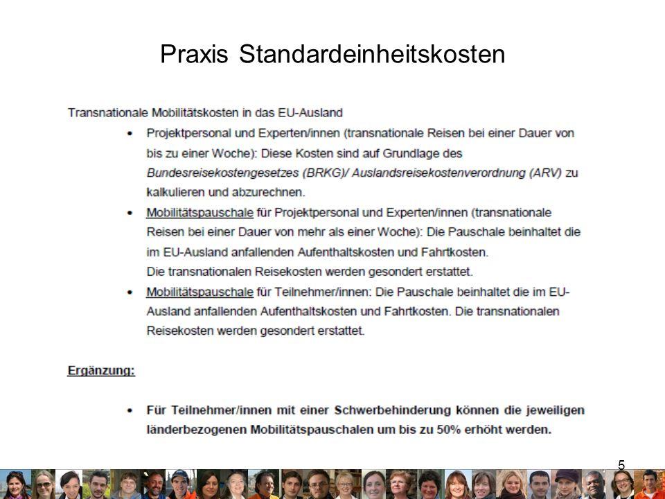5 Praxis Standardeinheitskosten