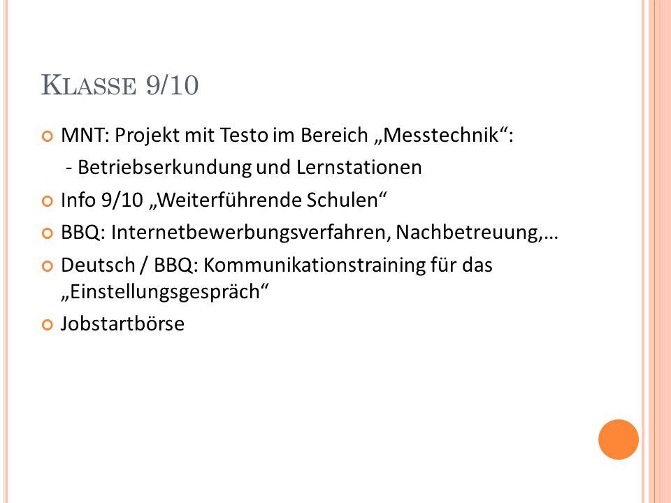 SCHÜLERFIRMA Nachmittagsangebot für S der Klassen 7-10 Max.