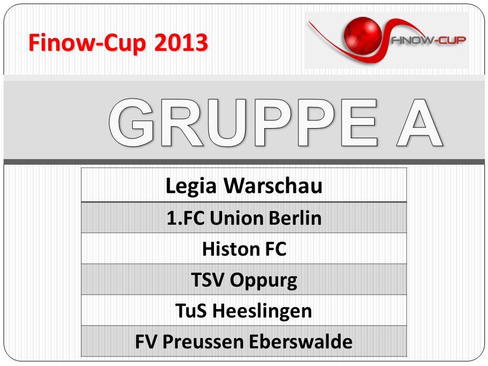 Legia Warschau 1.FC Union Berlin Histon FC TSV Oppurg TuS Heeslingen FV Preussen Eberswalde