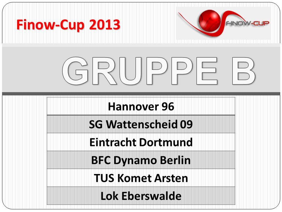 Finow-Cup 2013 Hannover 96 SG Wattenscheid 09 Eintracht Dortmund BFC Dynamo Berlin TUS Komet Arsten Lok Eberswalde