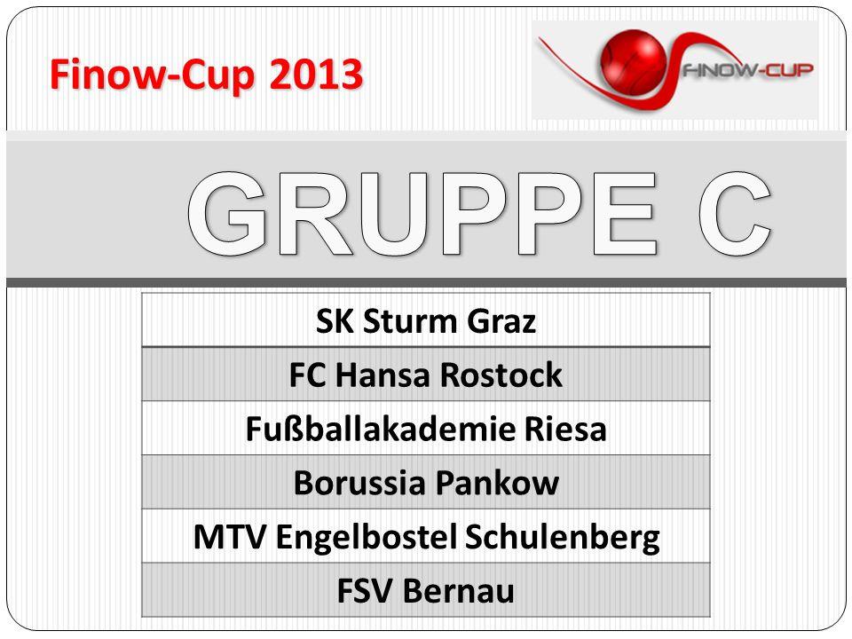 Finow-Cup 2013 SK Sturm Graz FC Hansa Rostock Fußballakademie Riesa Borussia Pankow MTV Engelbostel Schulenberg FSV Bernau