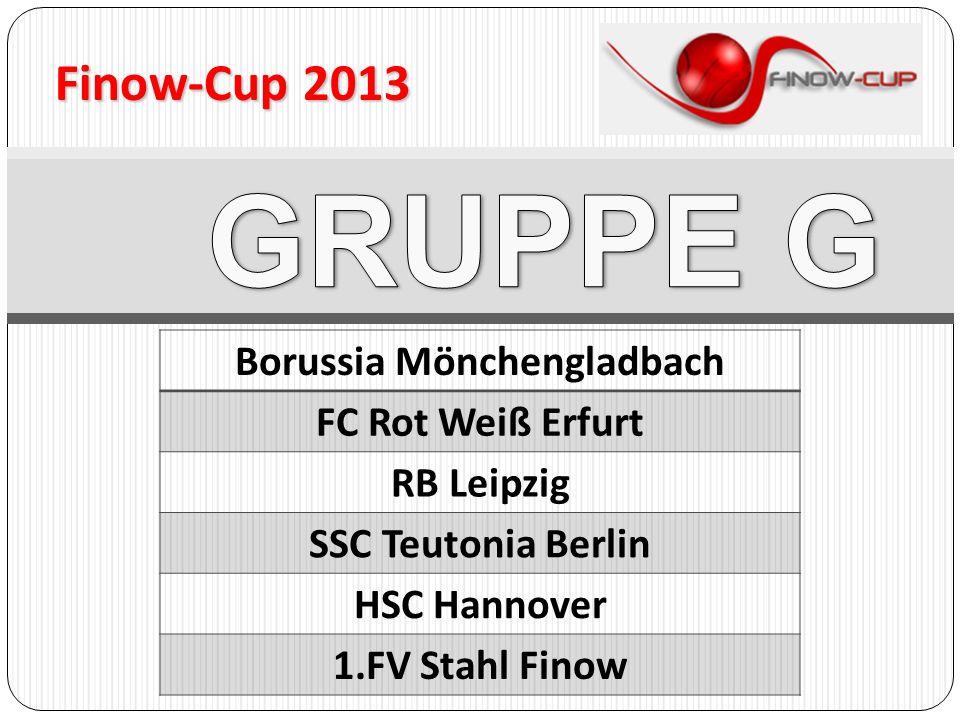 Finow-Cup 2013 Borussia Mönchengladbach FC Rot Weiß Erfurt RB Leipzig SSC Teutonia Berlin HSC Hannover 1.FV Stahl Finow