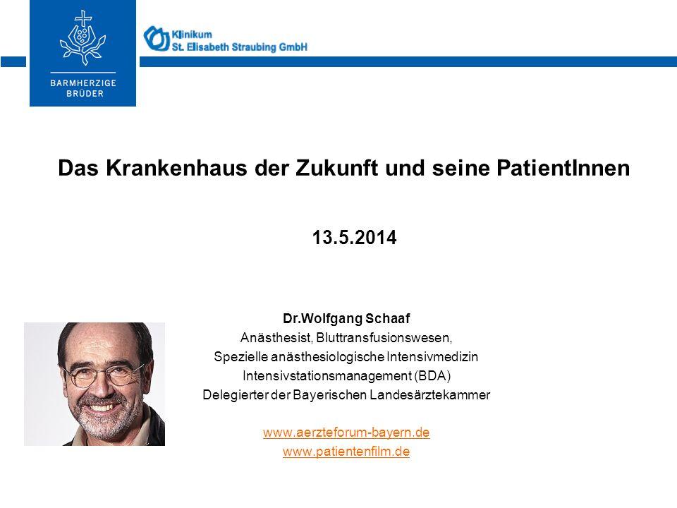 Krankenhaus Barmherzige Brüder ® Dr.Wolfgang Schaaf Anästhesist, Bluttransfusionswesen, Spezielle anästhesiologische Intensivmedizin Intensivstationsm