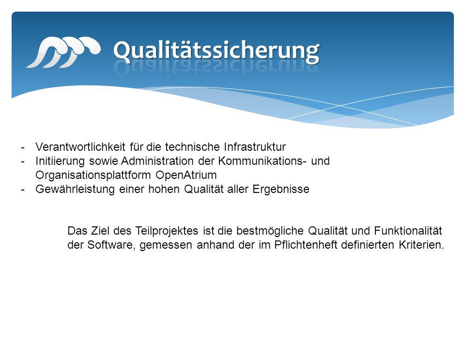 -Verantwortlichkeit für die technische Infrastruktur -Initiierung sowie Administration der Kommunikations- und Organisationsplattform OpenAtrium -Gewä