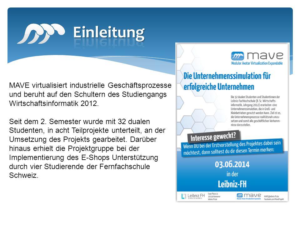 MAVE virtualisiert industrielle Geschäftsprozesse und beruht auf den Schultern des Studiengangs Wirtschaftsinformatik 2012.