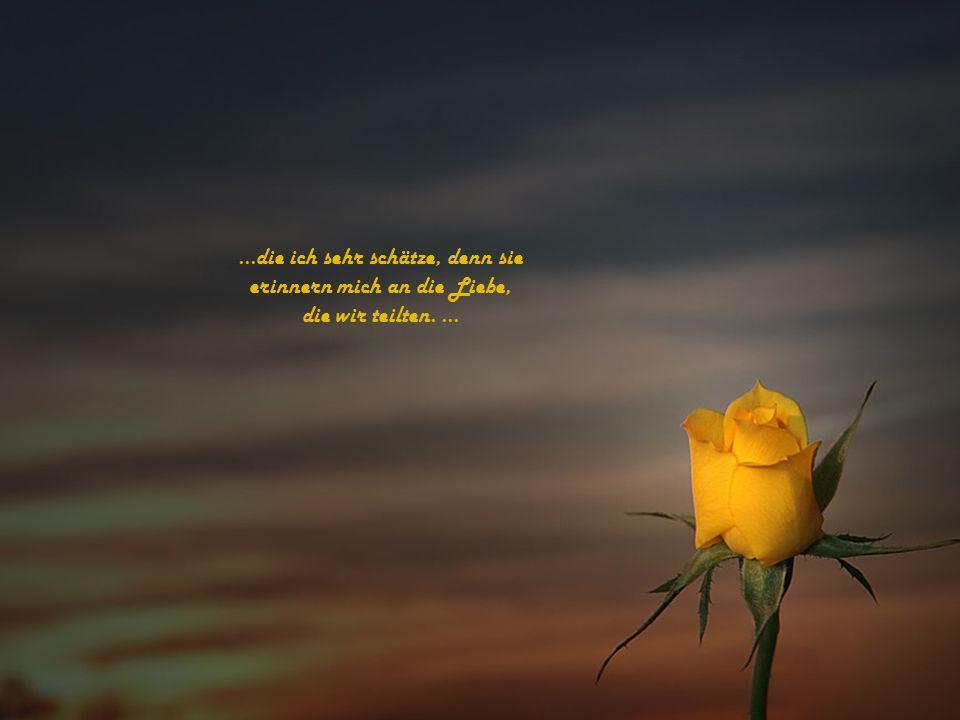 ...die ich sehr schätze, denn sie erinnern mich an die Liebe, die wir teilten....