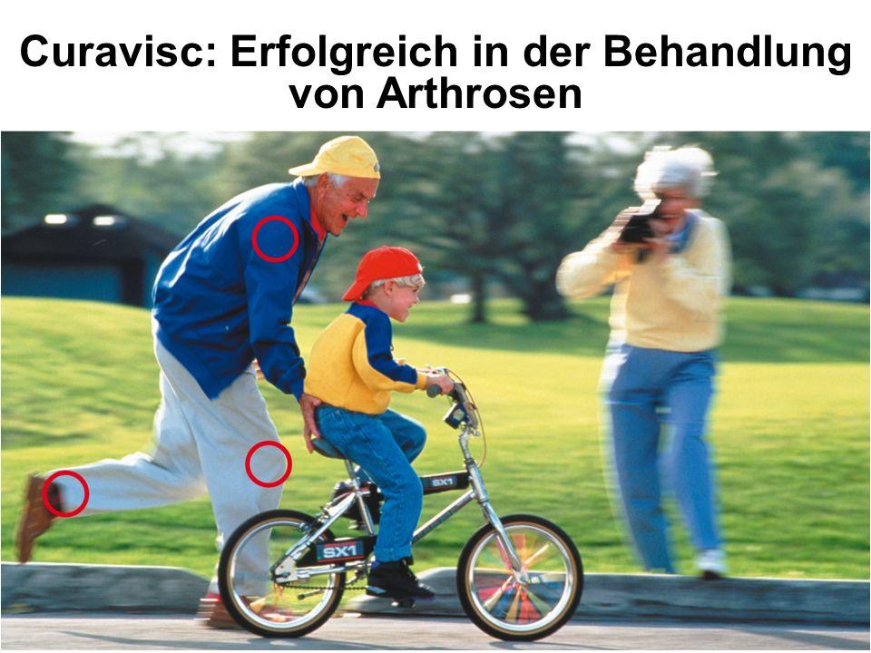 Arthrose weniger Schmerzen Gelenk- schmerzen schlechte Beweglichkeit erhöhte Beweglichkeit Curavisc verbessert die Gelenkbeweglichkeit und schafft mehr Lebensqualität