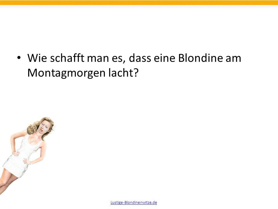 Die lustigsten Witze über Blondinen Teil 2 präsentiert von Lustige-Blondinenwitze.de