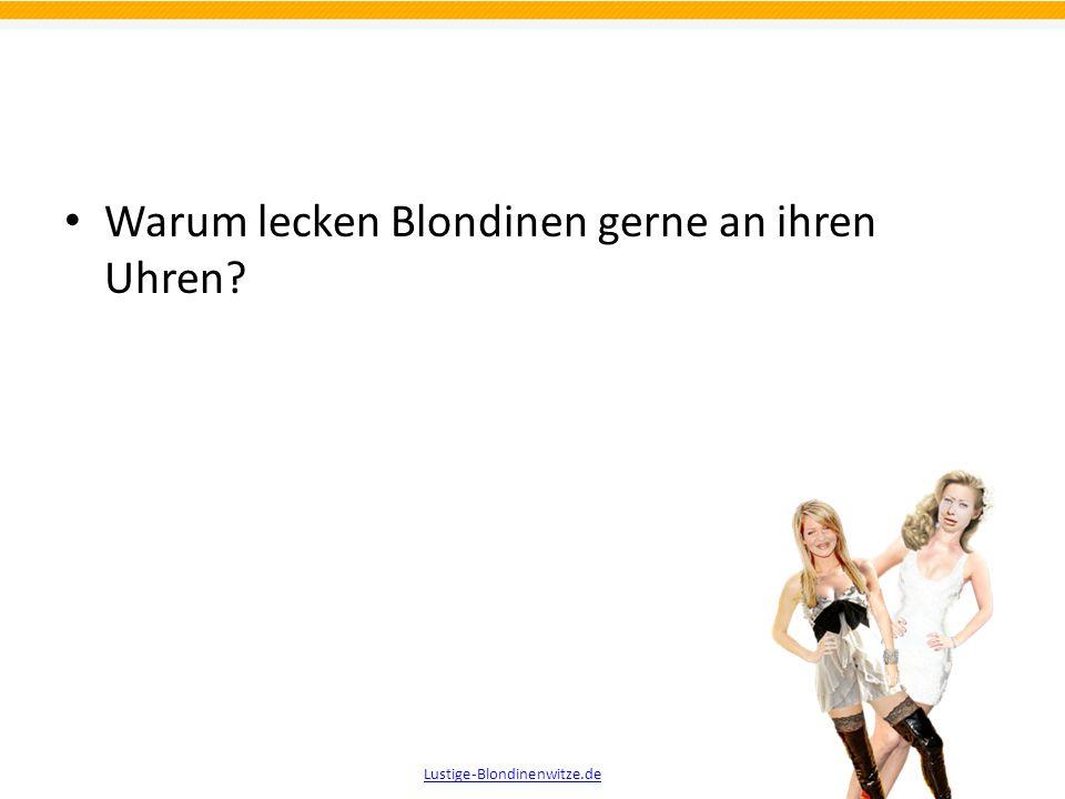 Wozu haben Blondinen den Kühlschrank voll mit leeren Flaschen? Damit sie auch Leuten etwas anbieten können, die nichts trinken wollen. Lustige-Blondin
