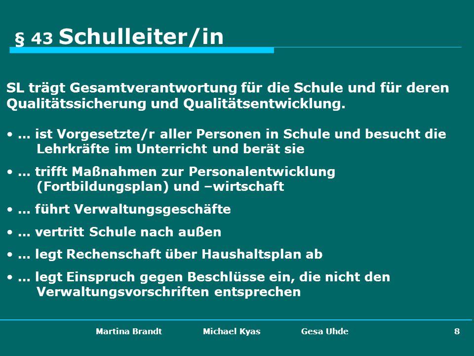 Martina Brandt Michael Kyas Gesa Uhde 29 Die künftige eigenverantwortliche Schule...