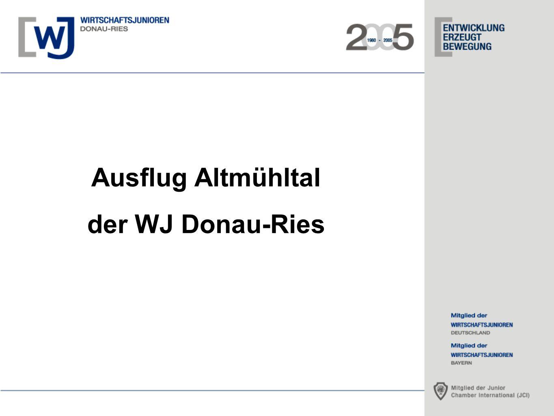 Ausflug Altmühltal der WJ Donau-Ries 1.Abfahrt ca.