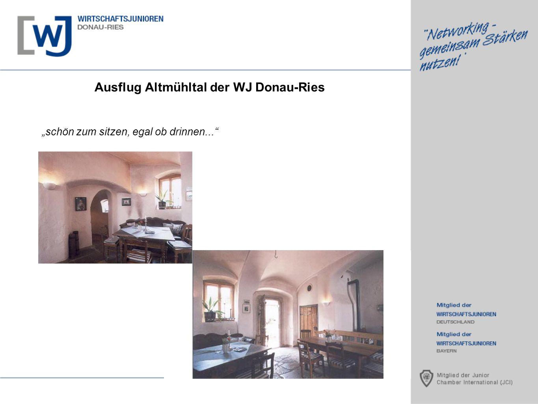 Ausflug Altmühltal der WJ Donau-Ries schön zum sitzen, egal ob drinnen...