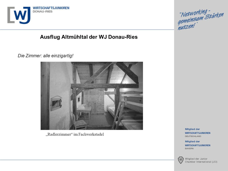 Ausflug Altmühltal der WJ Donau-Ries Die Zimmer: alle einzigartig! Radlerzimmer im Fachwerkstadel