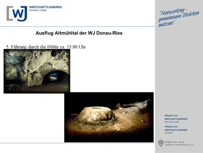 Ausflug Altmühltal der WJ Donau-Ries 5. Führung durch die Höhle ca. 15.00 Uhr