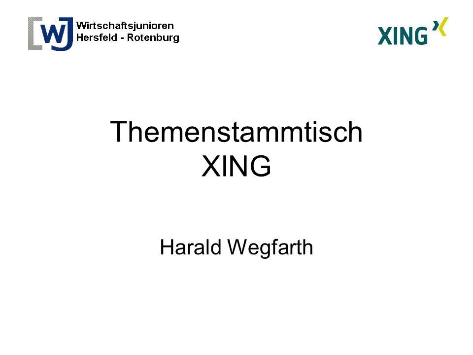 Themenstammtisch XING Harald Wegfarth