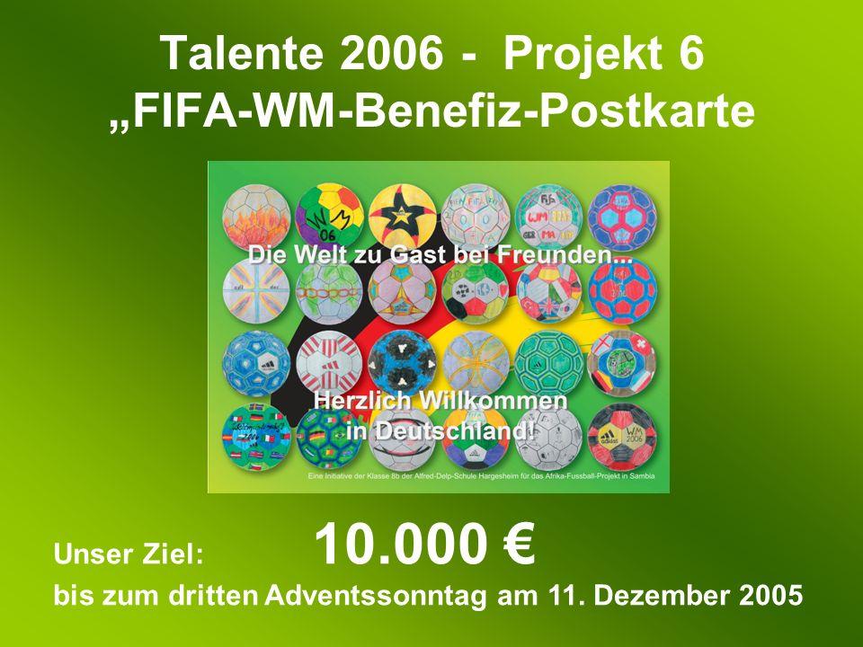 Unser Ziel: 10.000 bis zum dritten Adventssonntag am 11. Dezember 2005