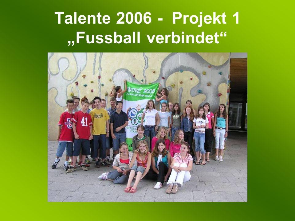 Talente 2006 - Projekt 1 Fussball verbindet