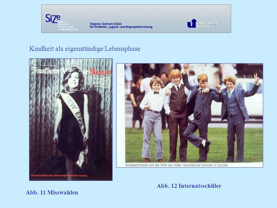 Kindheit als eigenständige Lebensphase Abb. 11 Misswahlen Abb. 12 Internatsschüler