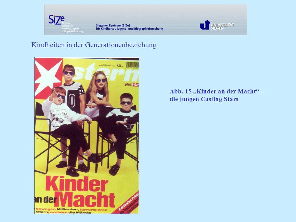 Kindheiten in der Generationenbeziehung Abb. 15 Kinder an der Macht – die jungen Casting Stars