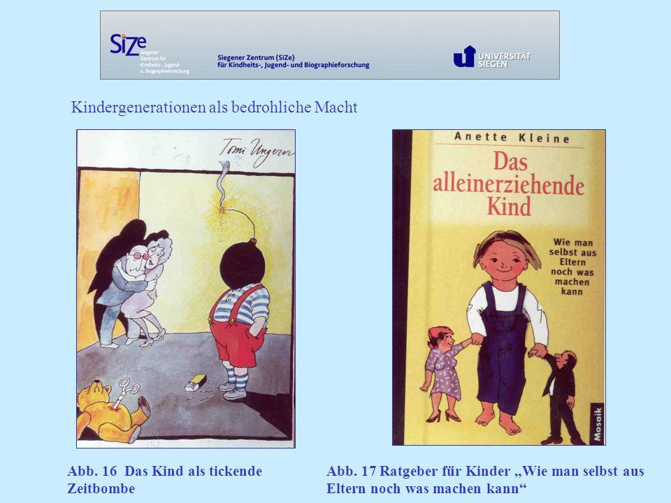 Kindergenerationen als bedrohliche Macht Abb.16 Das Kind als tickende Zeitbombe Abb.