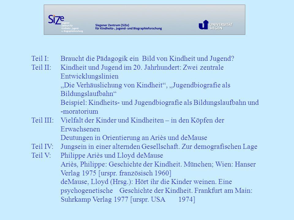 Teil I: Braucht die Pädagogik ein Bild von Kindheit und Jugend.