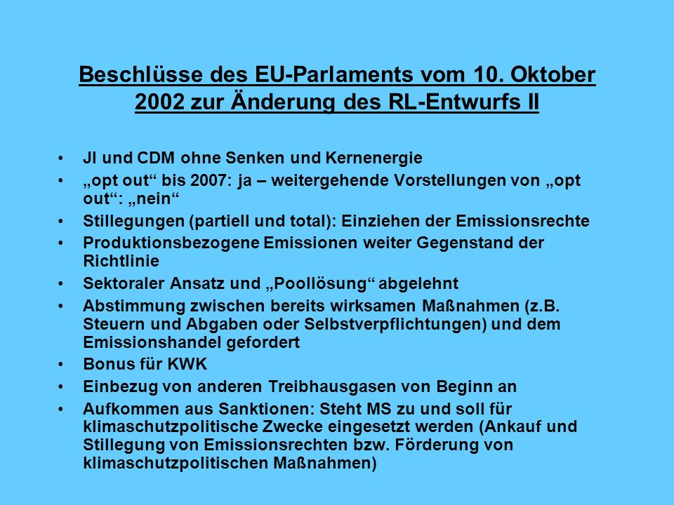 Der Berichterstatter – 14 Änderungsanträge bleiben.