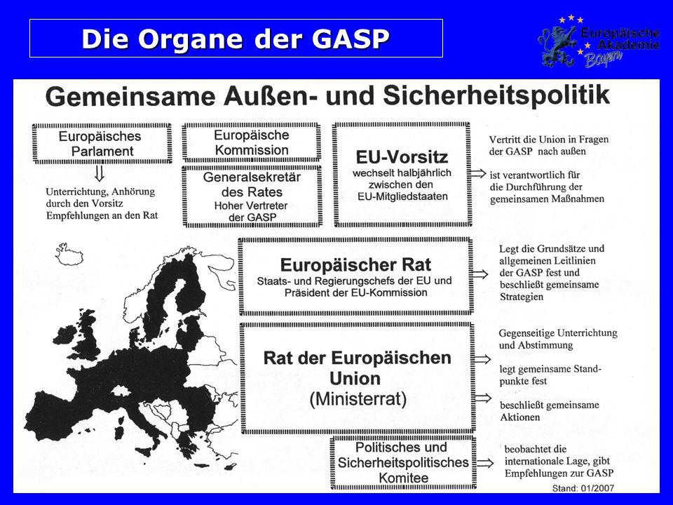 Die Organe der GASP