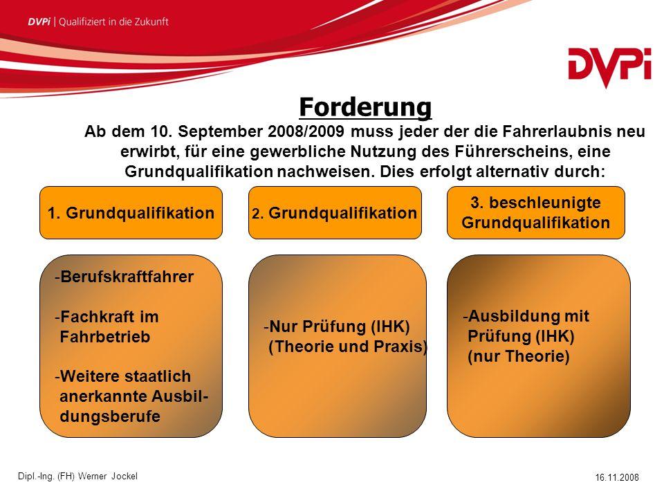 16.11.2008 Dipl.-Ing.(FH) Werner Jockel Forderung Ab dem 10.